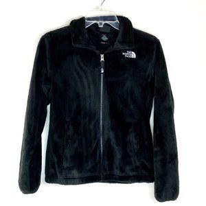 North Face Black Zip Up Jacket Girls Size 14 / 16